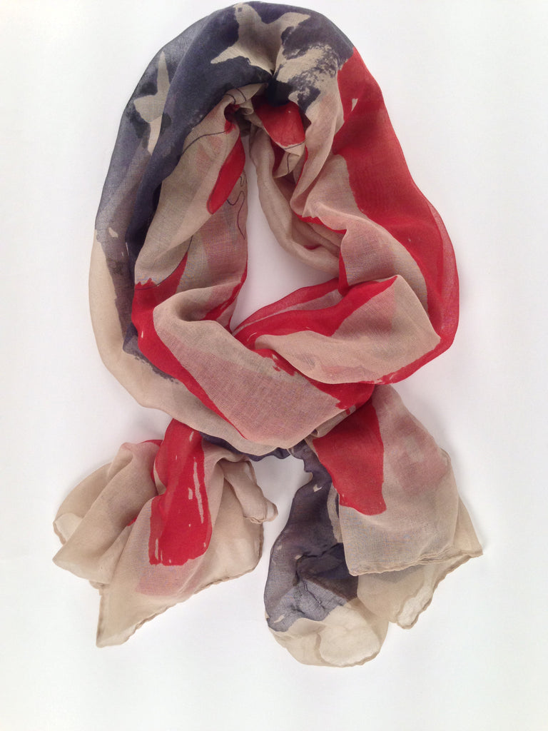 Antique Rustic American Scarf