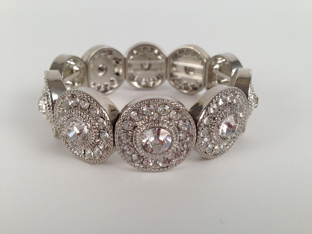 Antique Glass Stone Stretch Bracelet