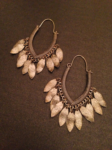 Hammered Leaves Earring