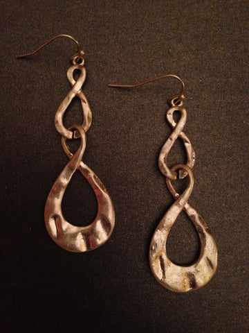 Hammered Infinity Teardrop Earring