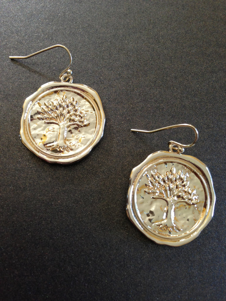 Tree of Life Seal Stamp Earring