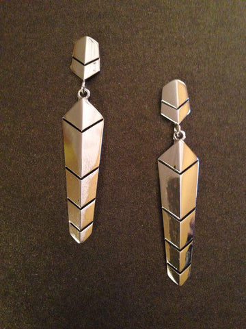 Chevron Textured Spear Earring