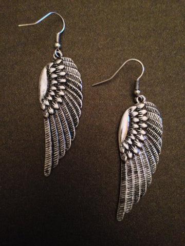 Angel Wing Earring  (Silver)