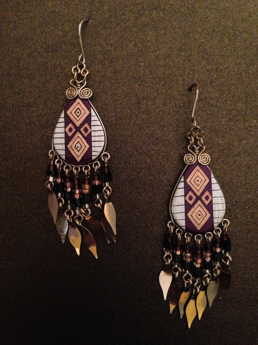 Hand Painted Toho Beaded Dangle Earring