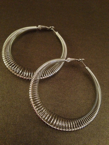 "1 7/8"" Spring Ring Hoop Earring"