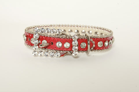 Red Rhinestone Dog Collar