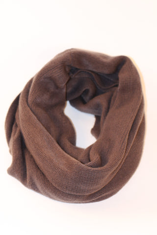 Dark Brown Infinity Scarf