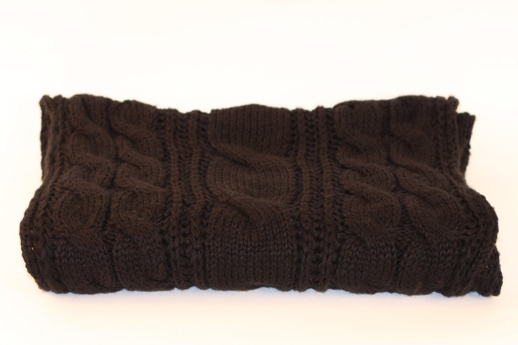 NYC Large Cable Scarf