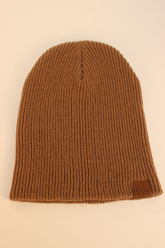 Co Co Cable Knit Beanie (Latte)