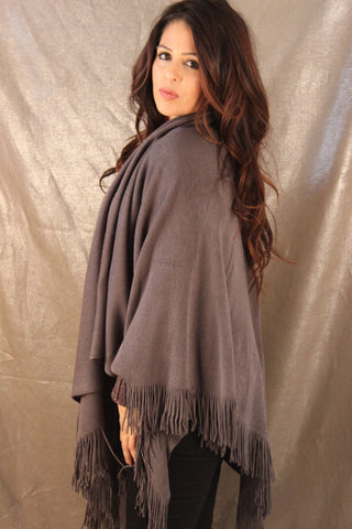 Saatchi Shawl  (Charcoal Grey)