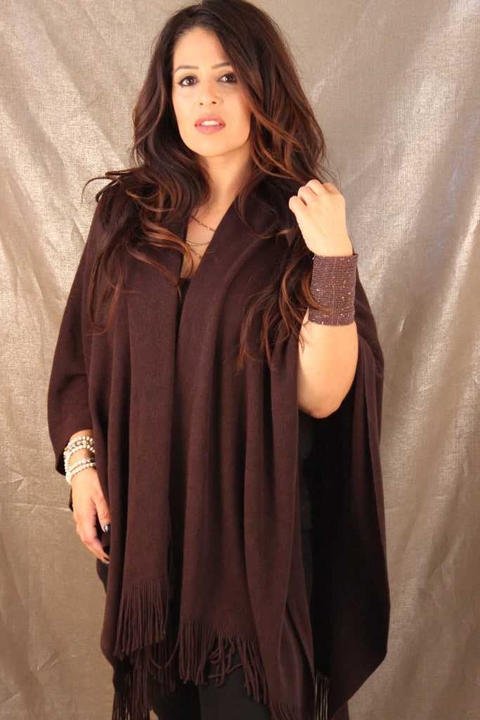 Saatchi Shawl (Dark Brown)