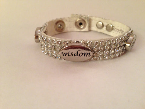 Peace - Hope - Freedom- Forgive Rhinestone Bracelet