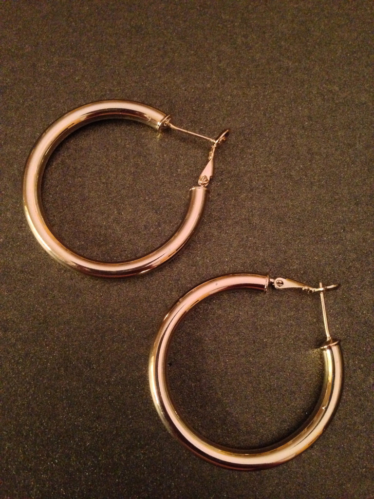 "1 1/4"" Polished Hoop Earring"