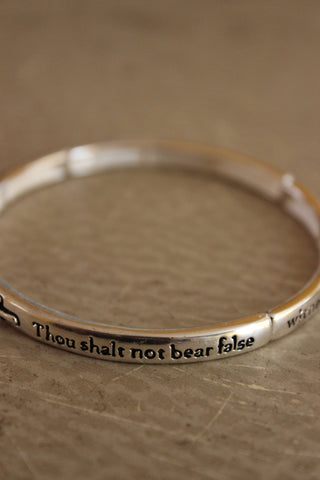 'I AM BLESSED' bar bracelet