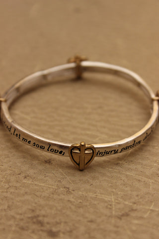 """Trust the Lord"" Textured Message Bar Bracelet"