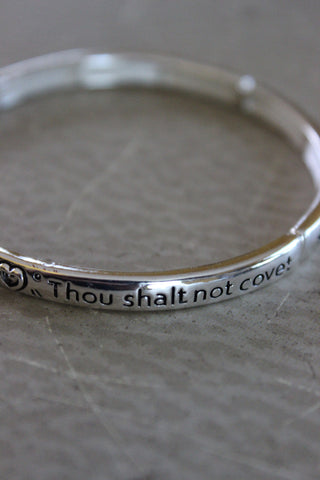 'Thou shalt not covet' Stretch Bracelet