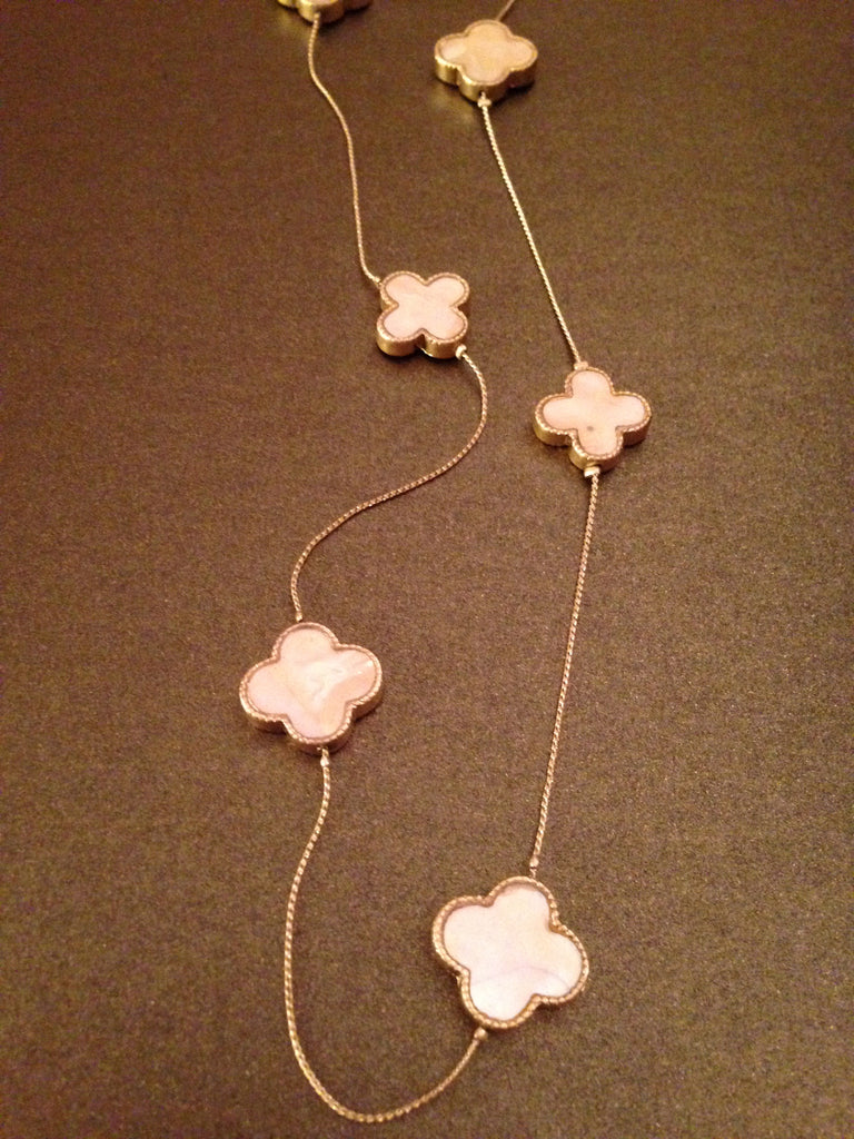 Linked Clover Charm Necklace