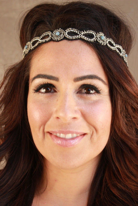 Jewel Studded Sead Bead Headband
