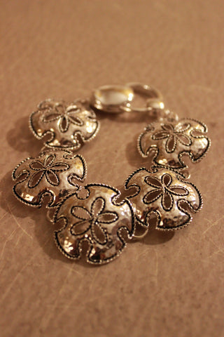 Linked Floral Cutout Bracelet