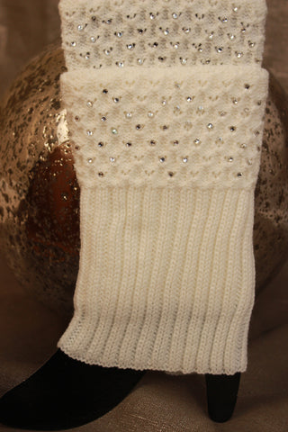 Crystal Embellished Leg Warmer Boot Socks