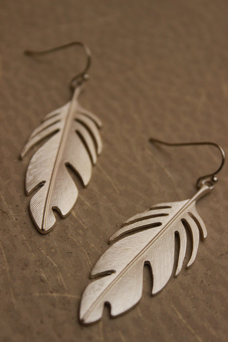 Metal Leaf Earrings