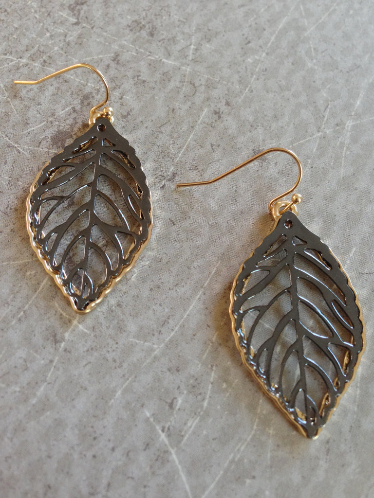 Leaf Cutout Earring