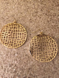 Round Mosaic Earring (Gold)