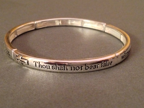'Thou shalt not bear false witness' Stretch Bracelet