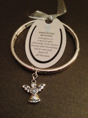 Daughter's Blessing Stretch Bracelet and Bookmark