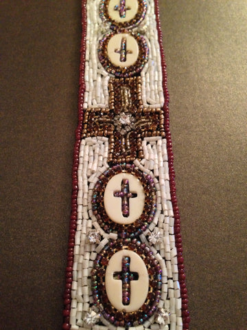 Aztec Beaded Cross Bracelet