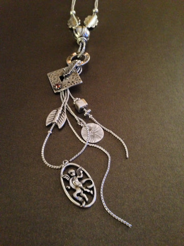 Antique Cupid Charm Necklace