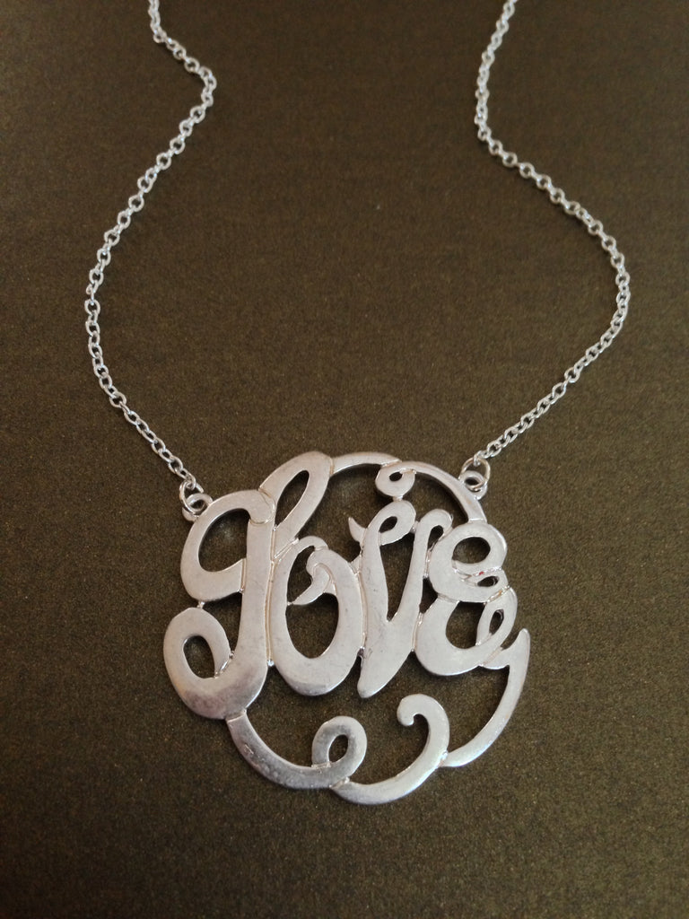 Hologram Love Pendant Necklace