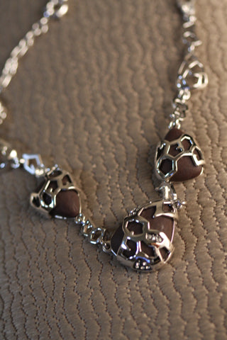 Stone Necklace (Silver)