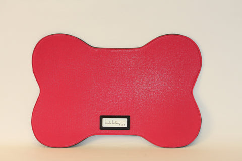 Pink Pebbled Bowl Mat