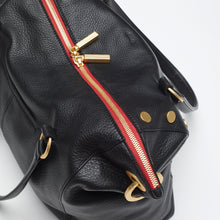 Load image into Gallery viewer, Daniel | Black/Brushed Gold Red Zip | Lrg