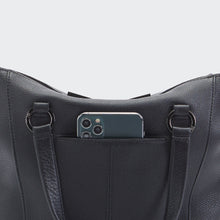 Load image into Gallery viewer, Daniel-Med-Black-Satchel-Details