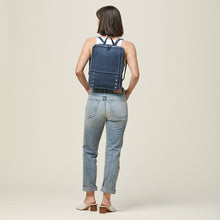 Load image into Gallery viewer, Hunter-Backpack-Indigo-Model-View-2