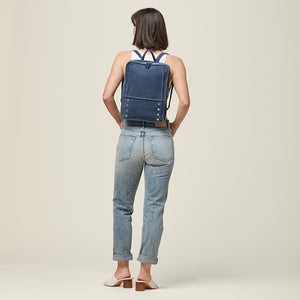Hunter-Backpack-Indigo-Model-View-2
