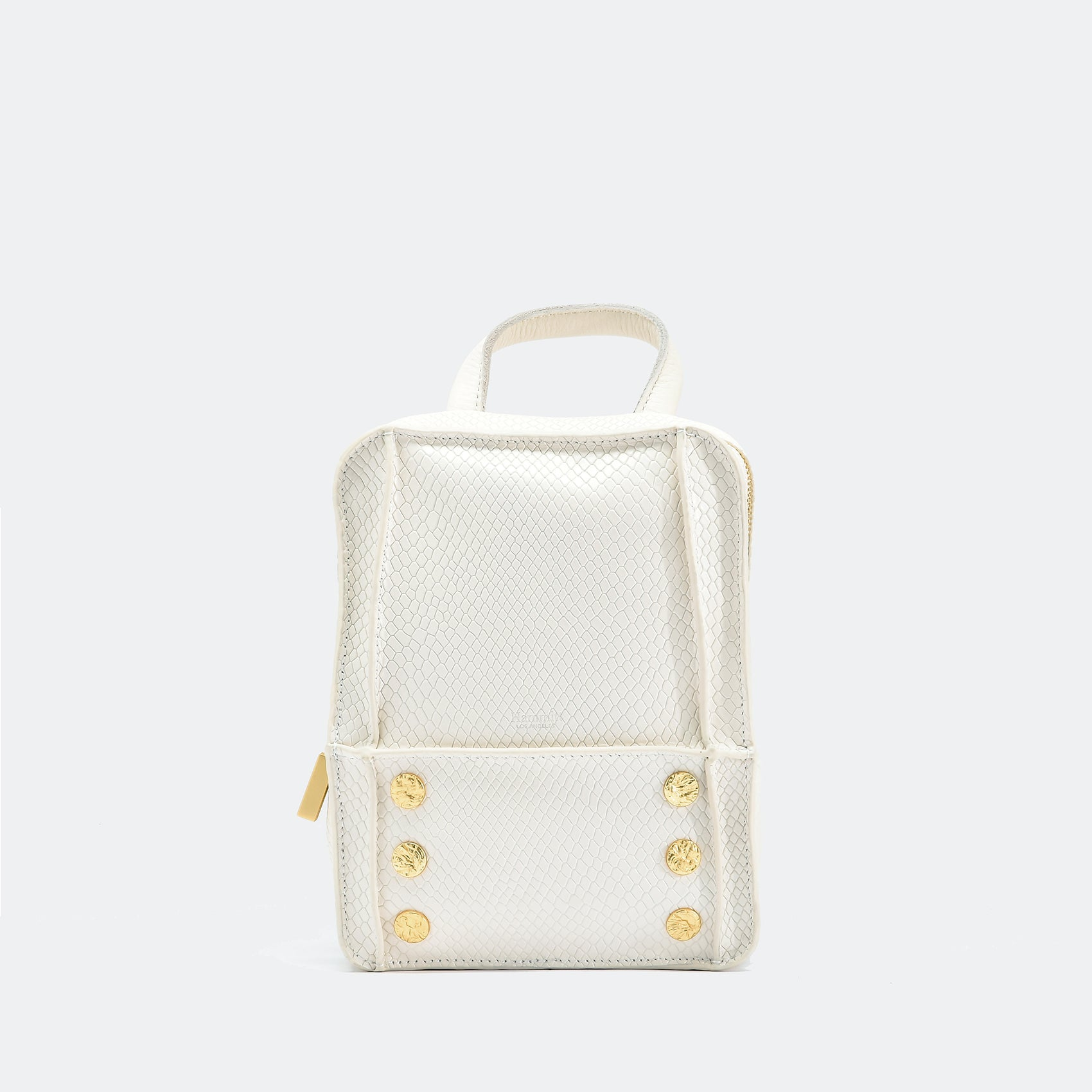 Hunter | Marshmallow White Snake/Brushed Gold | Mini