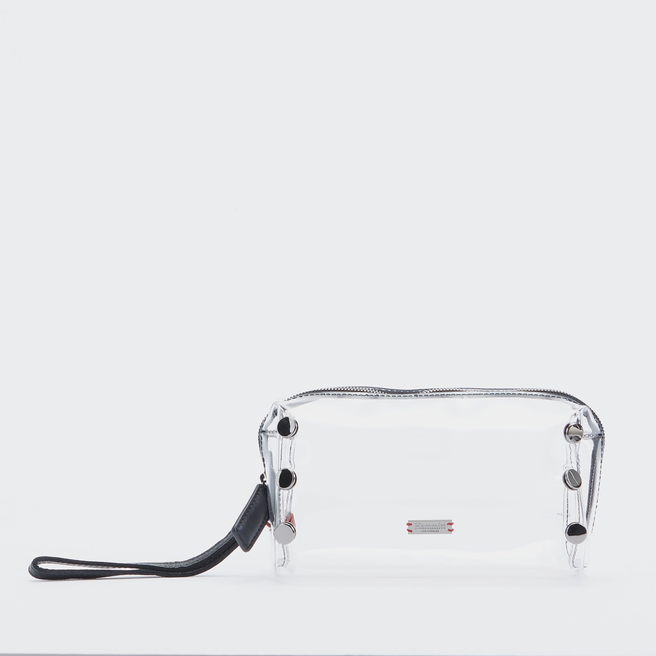 Make-Up-Bag-Clear-Black-Front-View