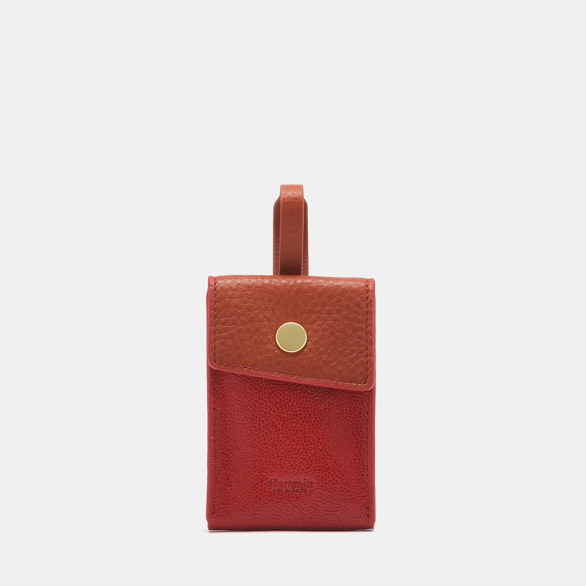 Sally Bag Tag | Layered Red/Brushed Gold