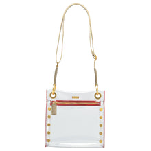 Load image into Gallery viewer, Tony-Med-Clear-Pewter-BG-R-Zip-Crossbody-View