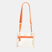 Load image into Gallery viewer, Tony-Sml-Clear-Orange-Crossbody-View