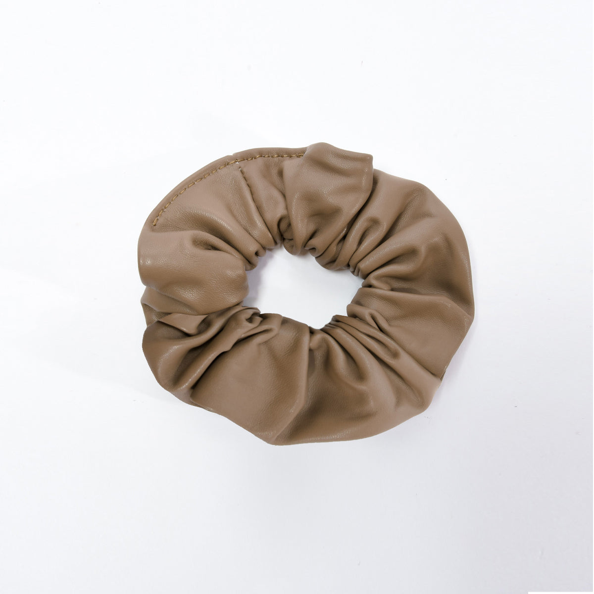 Scrunchie-Sml-Taupe-Front-View