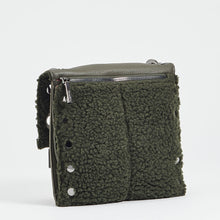 Load image into Gallery viewer, Montana-Rev-Med-Olive-Shearling-Back-View