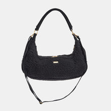 Load image into Gallery viewer, Becker-Black-Shearling-Crossbody-View