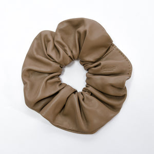 Scrunchie-Lrg-Taupe-Front-View