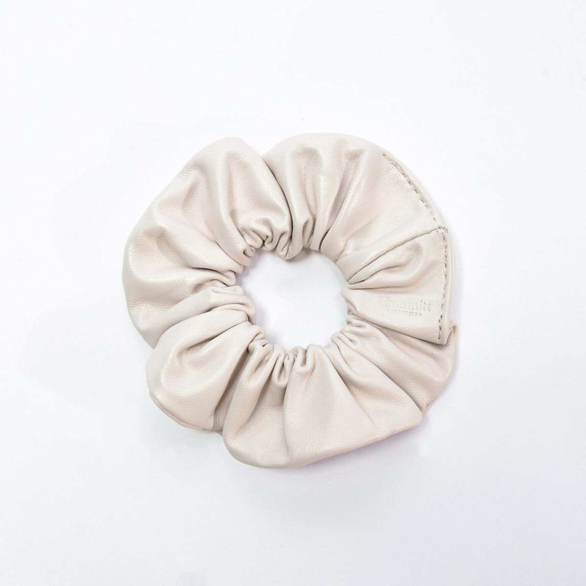 Scrunchie-Sml-Marshmallow-White-Front-View
