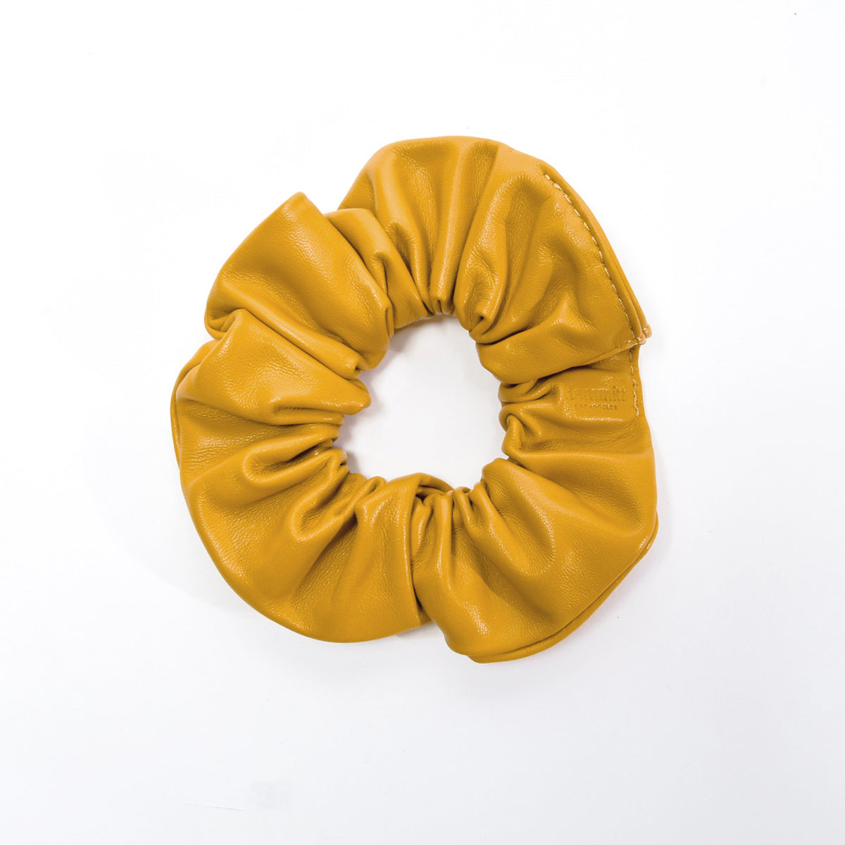 Scrunchie-Sml-Yellow-Front-View