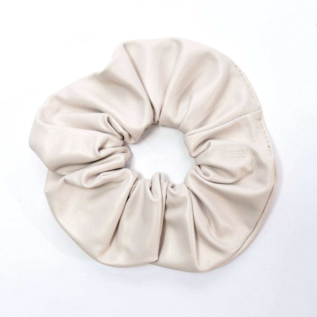 Scrunchie-Lrg-Marshmallow-White-Front-View